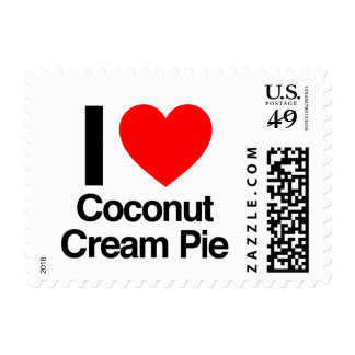 i love coconut cream pie postage stamps