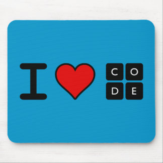I Love Code Mouse Pad