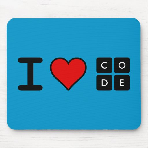 I Love Code Mouse Pads