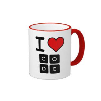 I Love Code Ringer Coffee Mug