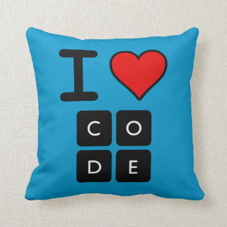 I Love Code Pillow