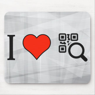 I Love Code Scan Mouse Pad