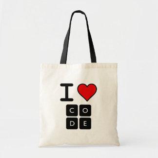 I Love Code Tote Bag
