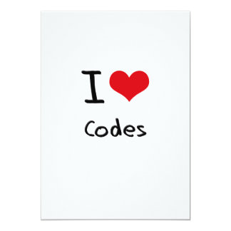 I love Codes 5x7 Paper Invitation Card