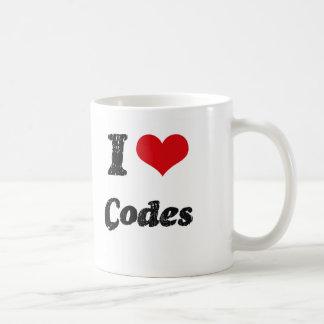 I love Codes Classic White Coffee Mug