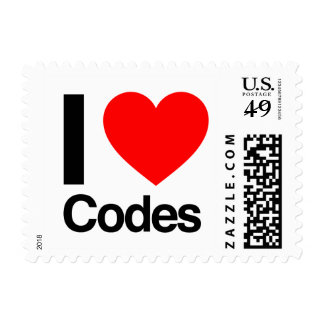 i love codes postage stamps