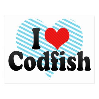 I Love Codfish Postcard