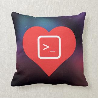 I Love Coding Throw Pillows