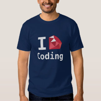 I Love Coding With Ruby Geek Shirt