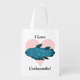 I Love Coelacanths! Grocery Bags