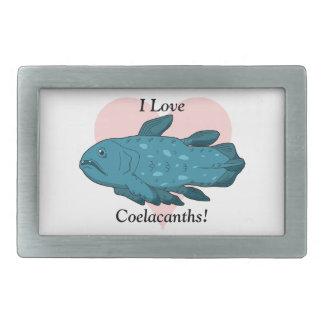 I Love Coelacanths! Rectangular Belt Buckle