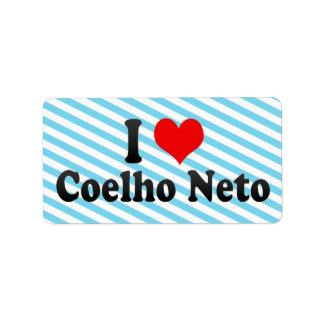 I Love Coelho Neto, Brazil Address Label