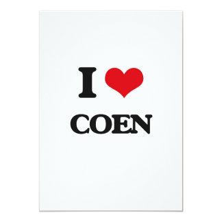 I Love Coen 5x7 Paper Invitation Card