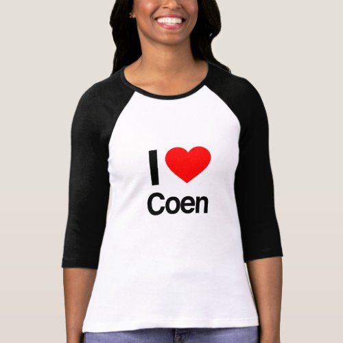 i love Coen T_Shirt