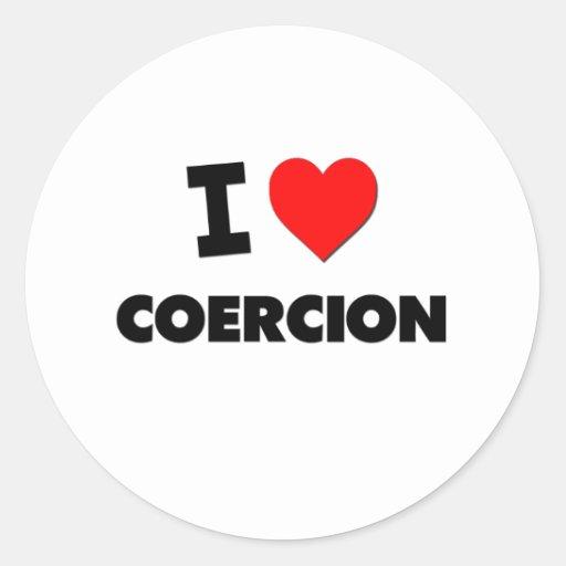 I love Coercion Classic Round Sticker