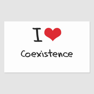 I love Coexistence Rectangular Sticker