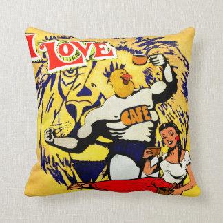 i love cofee throw pillow