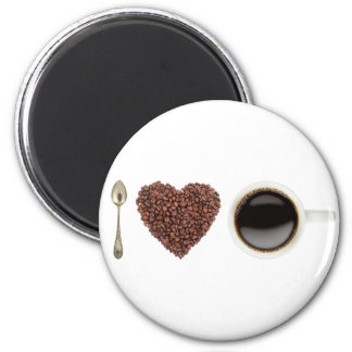 I Love Coffee 01 2 Inch Round Magnet