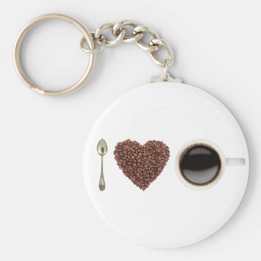 I Love Coffee 01 Basic Round Button Keychain