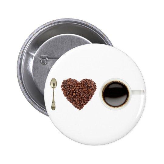 I Love Coffee 01 Pinback Button