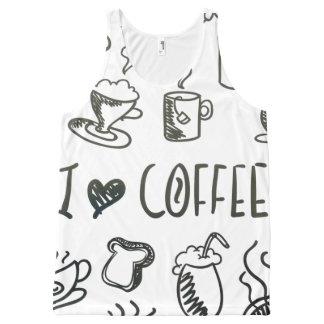 I Love Coffee All-Over-Print Tank Top