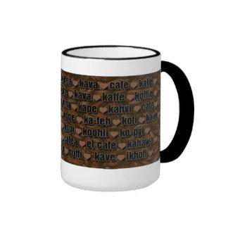 I love Coffee-Around the world 2 Ringer Coffee Mug