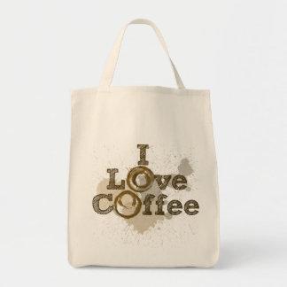 I Love Coffee Art Caffeine Tote Bag