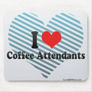 I Love Coffee Attendants Mousepads