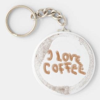 I love coffee! basic round button keychain