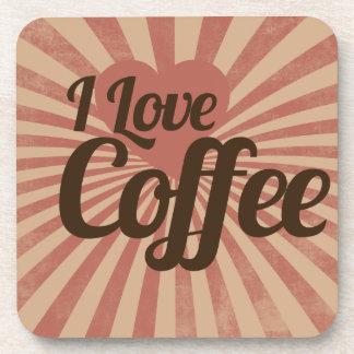 I love coffee beverage coaster