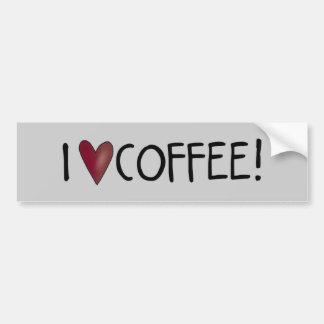 I Love Coffee Car Bumper Sticker