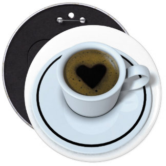 I LOVE coffee Buttons