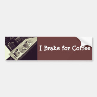 I love Coffee Cafe Shop Coffee Cups on Table Bumper Sticker