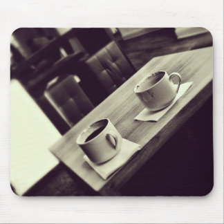 I love Coffee Cafe Shop Coffee Cups on Table Mousepads