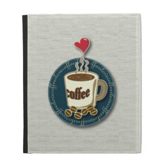 I Love Coffee iPad Folio Cases