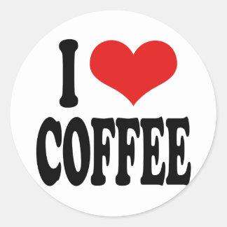 I Love Coffee Classic Round Sticker