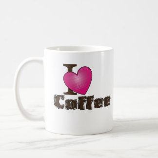 """I Love Coffee"" Coffee Mug"