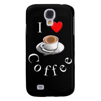 """""""I Love Coffee"""" Coffee Mug Design Galaxy S4 Covers"""