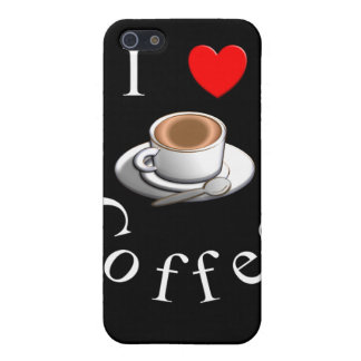 """I Love Coffee"" Coffee Mug Design iPhone 5 Cases"