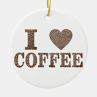 i love coffee ,coffeeholic ceramic ornament