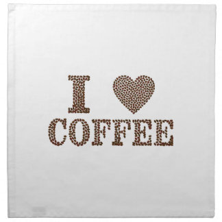i love coffee ,coffeeholic cloth napkin