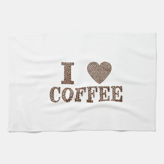 i love coffee ,coffeeholic hand towel