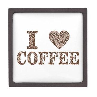 i love coffee ,coffeeholic keepsake box