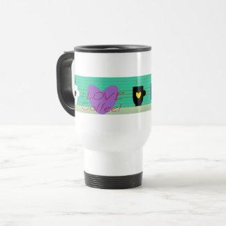 I Love Coffee Colorful Cute Mugs Cheerful Heart