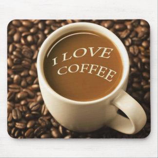 I Love Coffee Design Mousepad