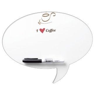 I Love Coffee Dry Erase Whiteboards