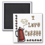 I Love Coffee Fridge Magnets