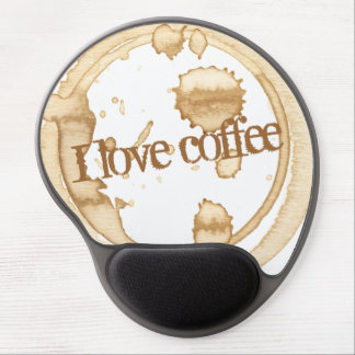 I Love Coffee Grunge Text with Coffee Stains Gel Mouse Pad