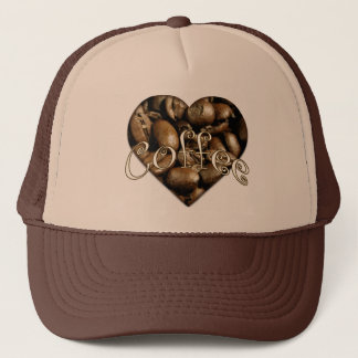 I Love Coffee Heart Trucker Hat