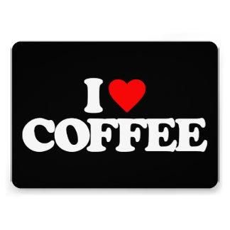 I LOVE COFFEE CUSTOM INVITATIONS